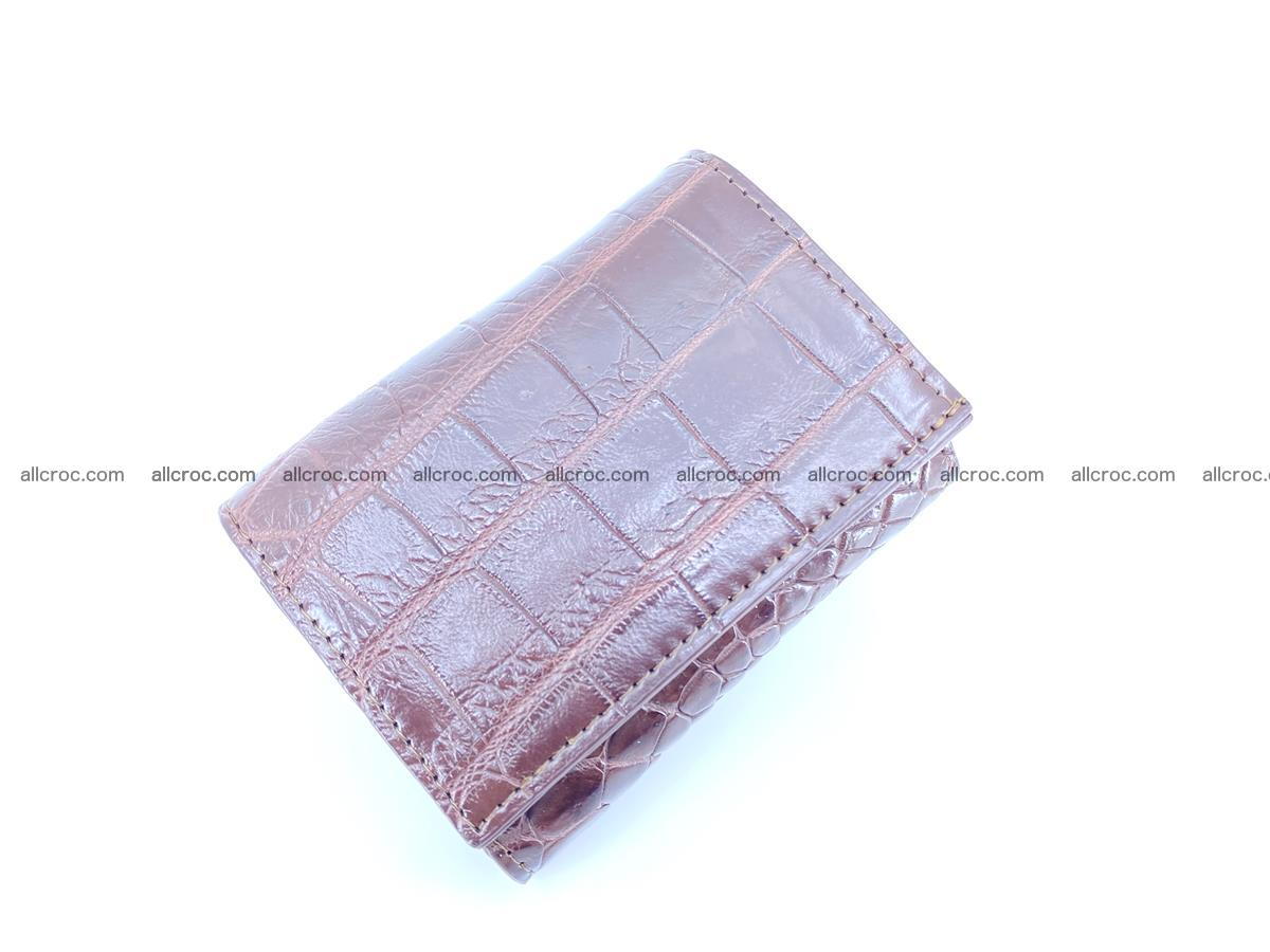 Crocodile skin wallet trifold mini with coins compartment 501 Foto 2