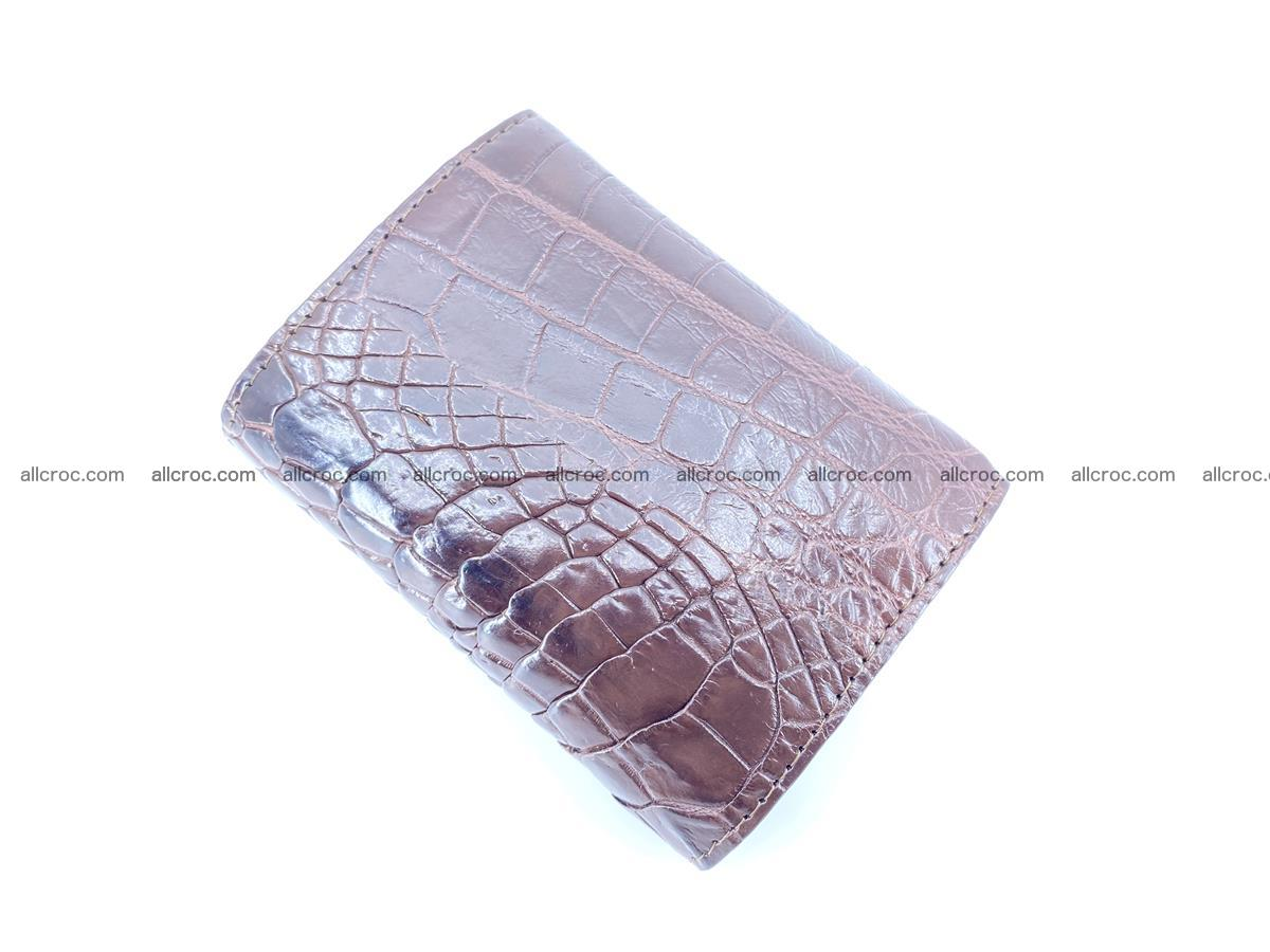 Crocodile skin wallet trifold mini with coins compartment 501 Foto 3