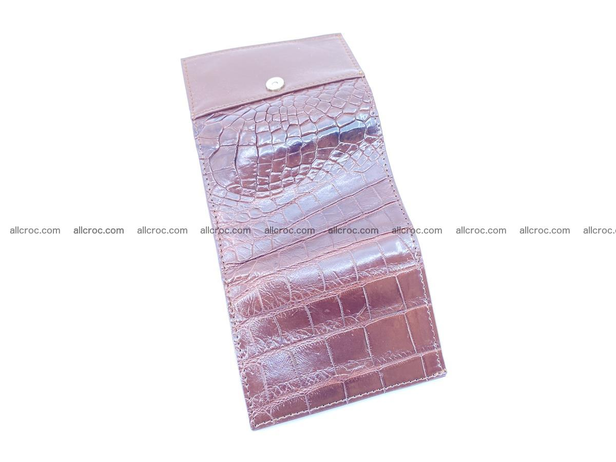 Crocodile skin wallet trifold mini with coins compartment 501 Foto 7