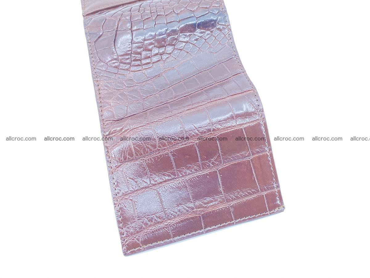 Crocodile skin wallet trifold mini with coins compartment 501 Foto 8