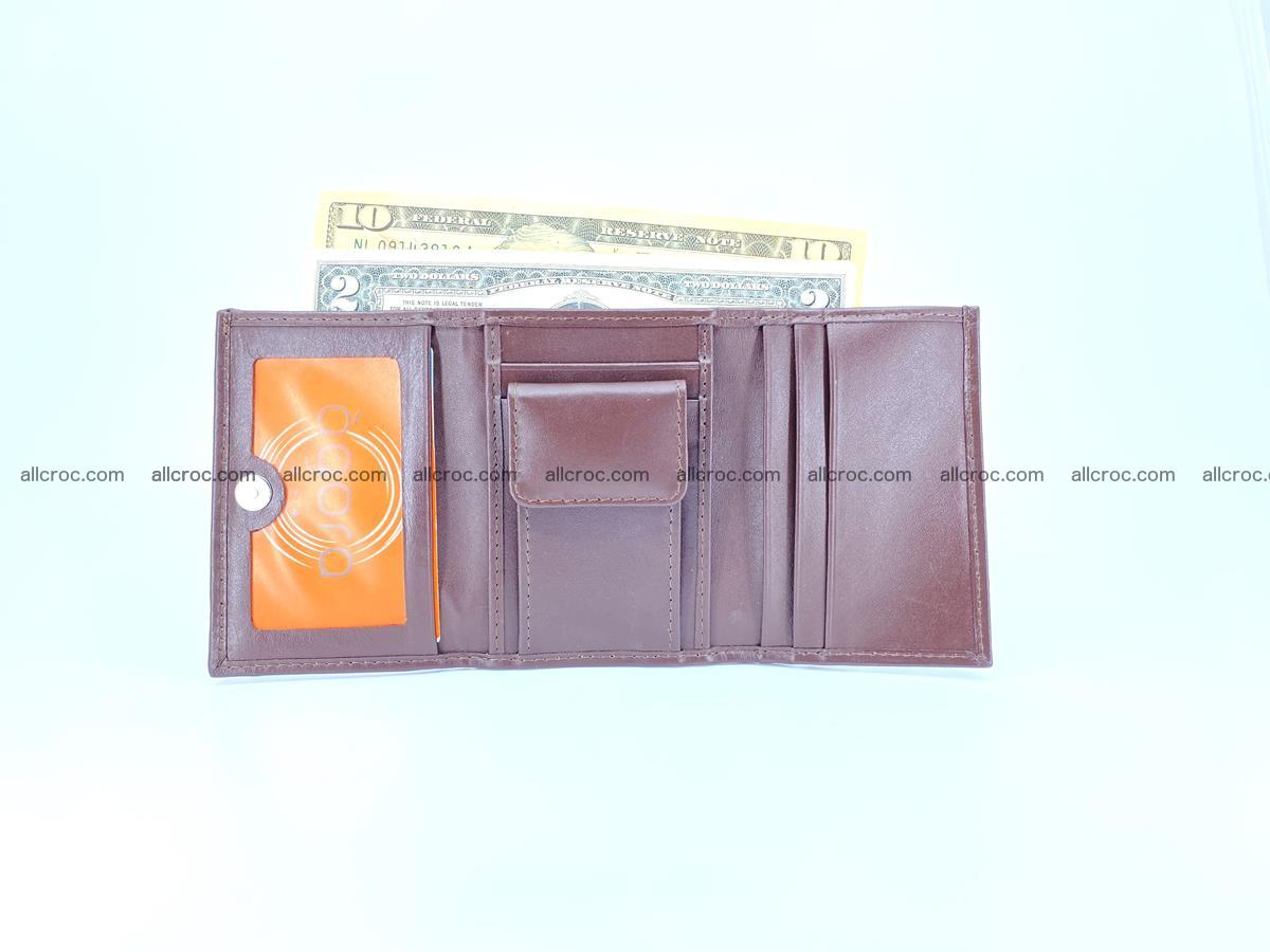 Crocodile skin wallet trifold mini with coins compartment 503 Foto 9