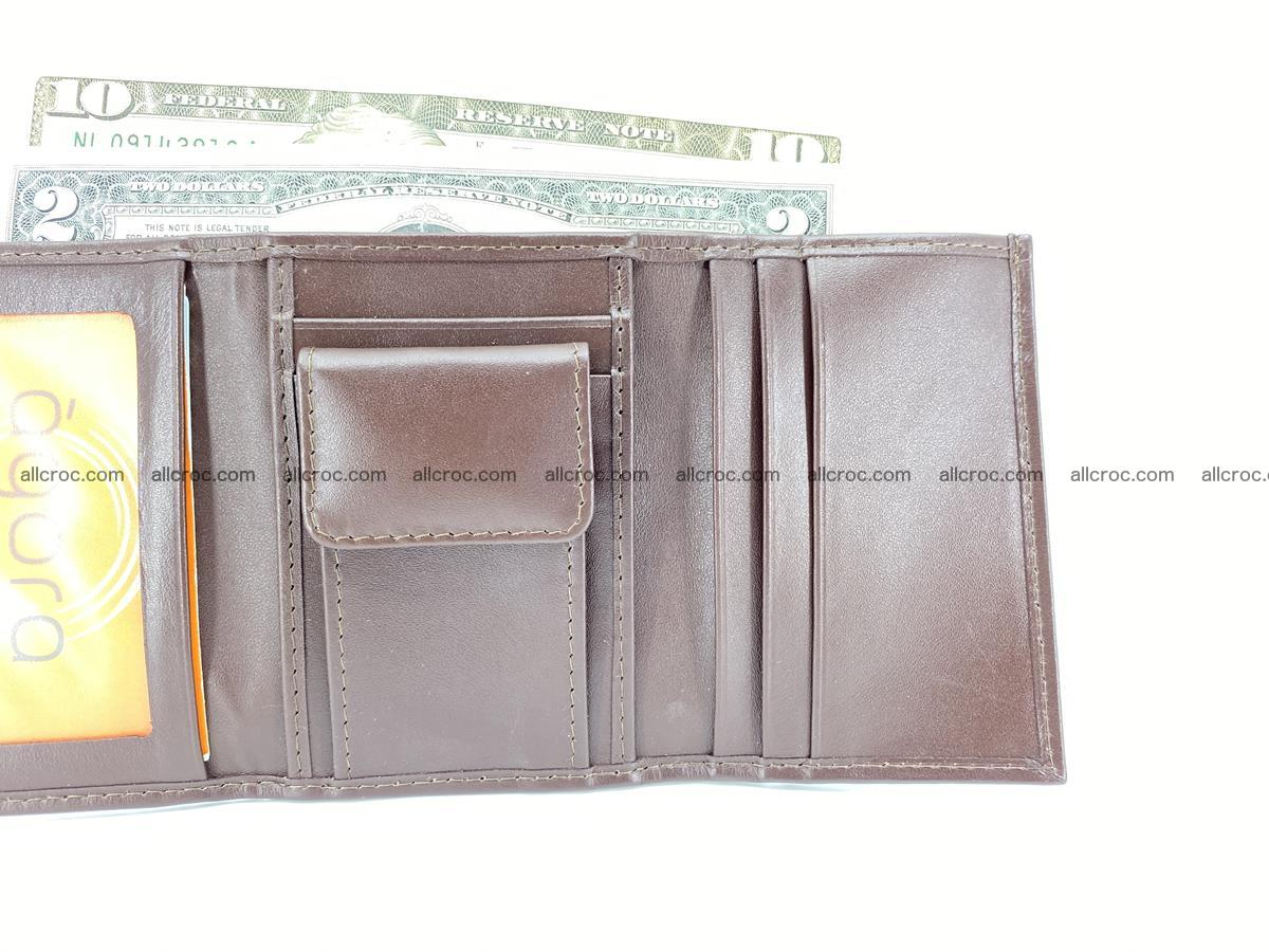 Crocodile skin wallet trifold mini with coins compartment 503 Foto 10