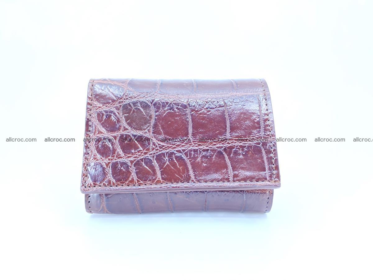 Crocodile skin wallet trifold mini with coins compartment 503 Foto 0