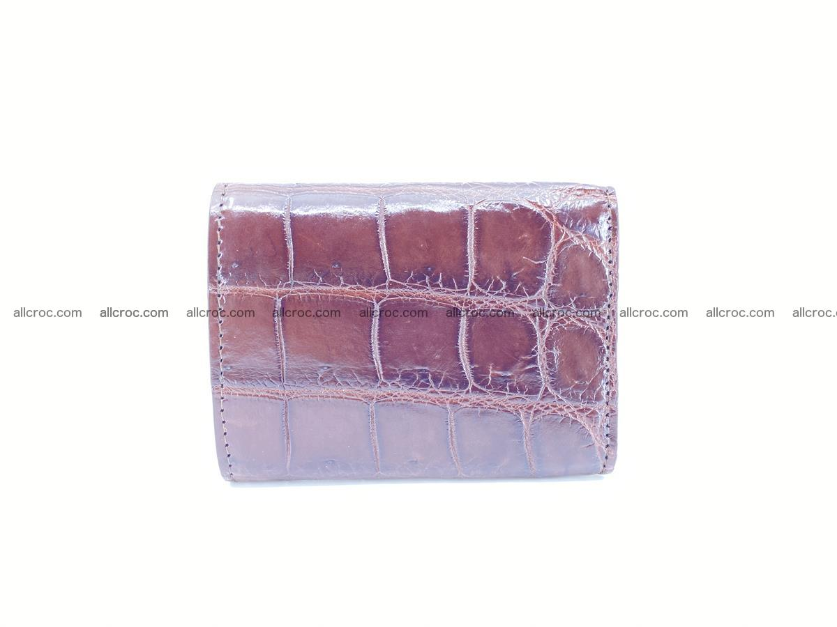 Crocodile skin wallet trifold mini with coins compartment 503 Foto 1