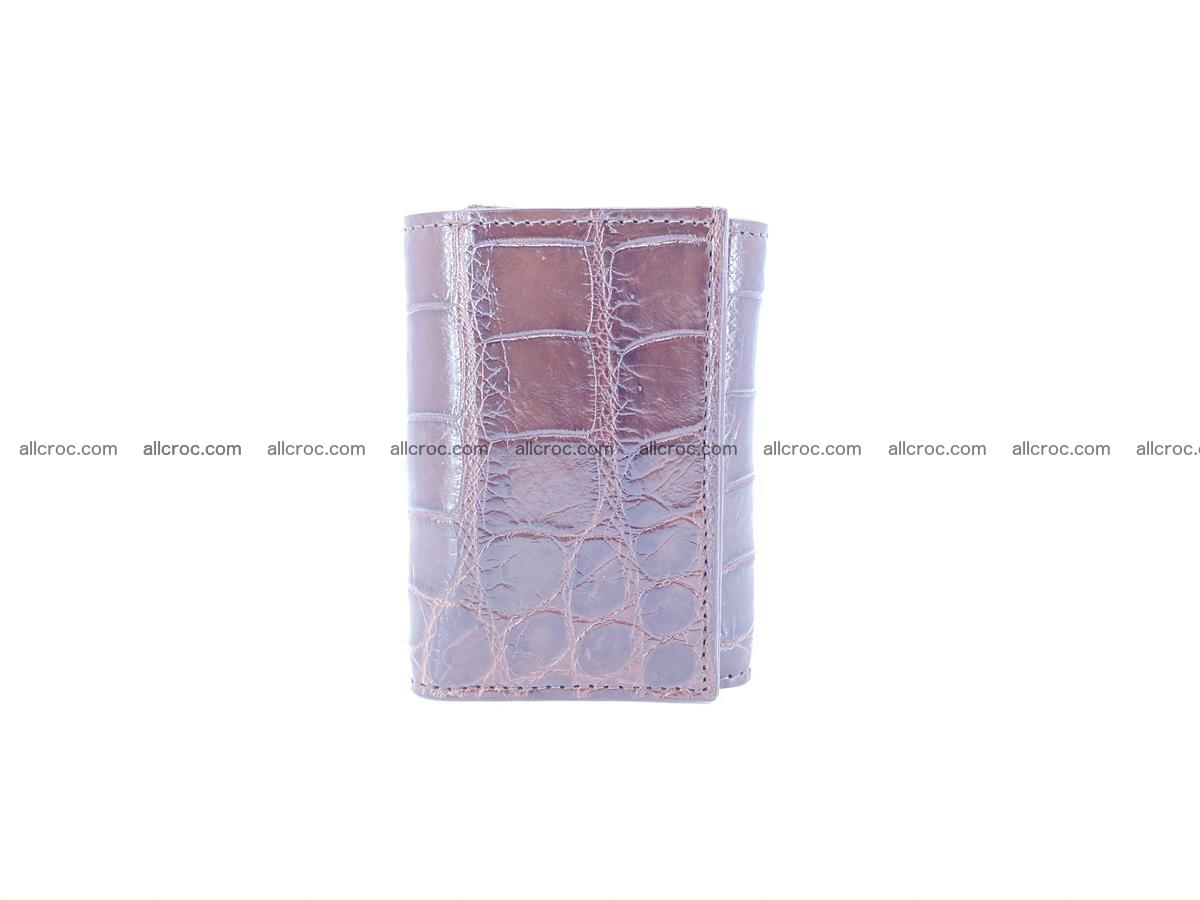 Crocodile skin wallet trifold mini with coins compartment 503 Foto 4
