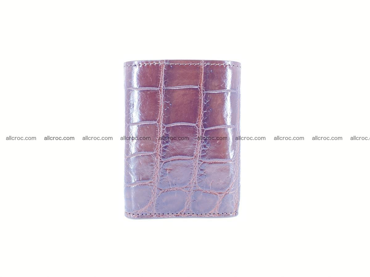 Crocodile skin wallet trifold mini with coins compartment 503 Foto 5