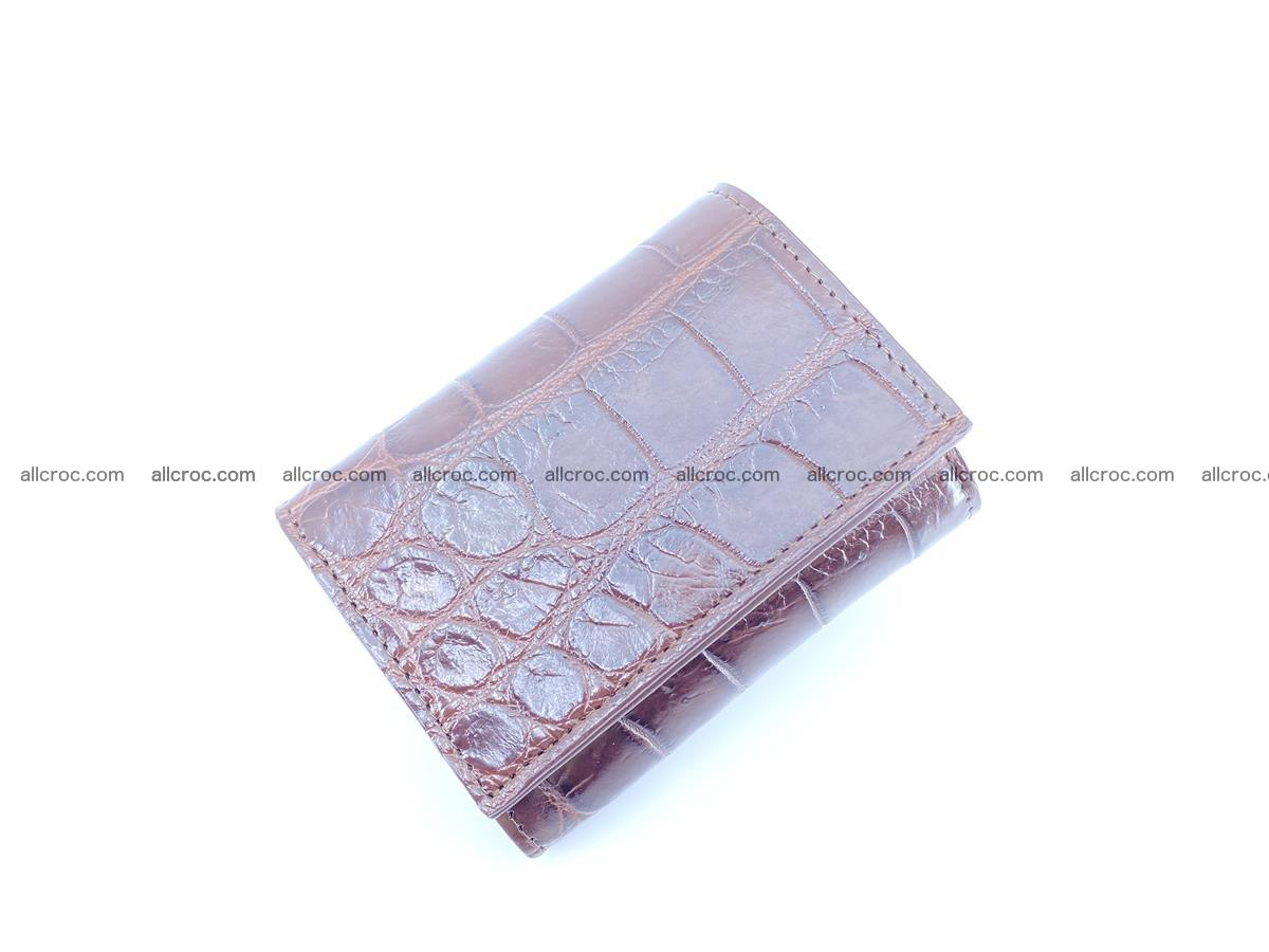 Crocodile skin wallet trifold mini with coins compartment 503 Foto 2