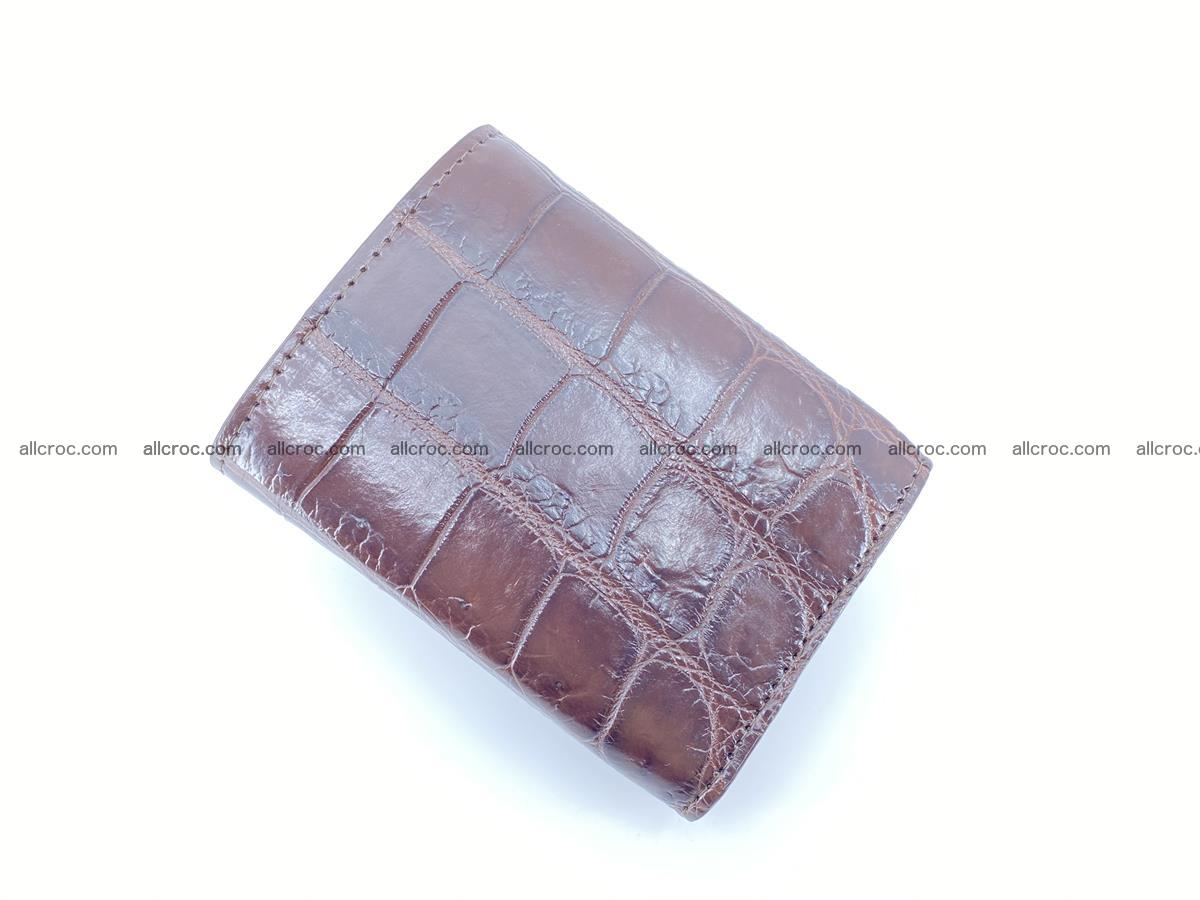 Crocodile skin wallet trifold mini with coins compartment 503 Foto 3