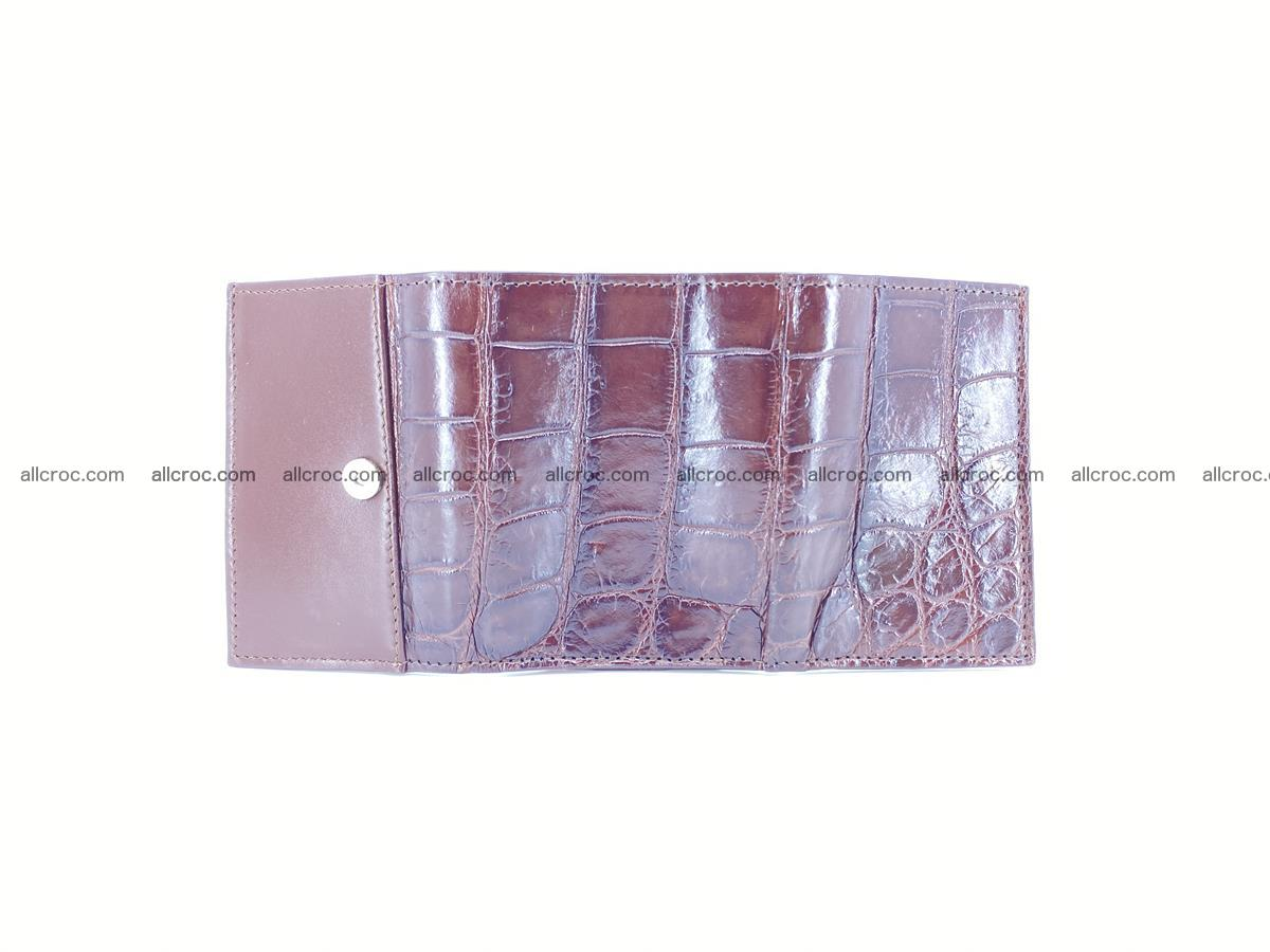 Crocodile skin wallet trifold mini with coins compartment 503 Foto 6