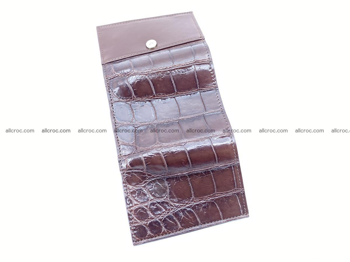 Crocodile skin wallet trifold mini with coins compartment 503 Foto 7