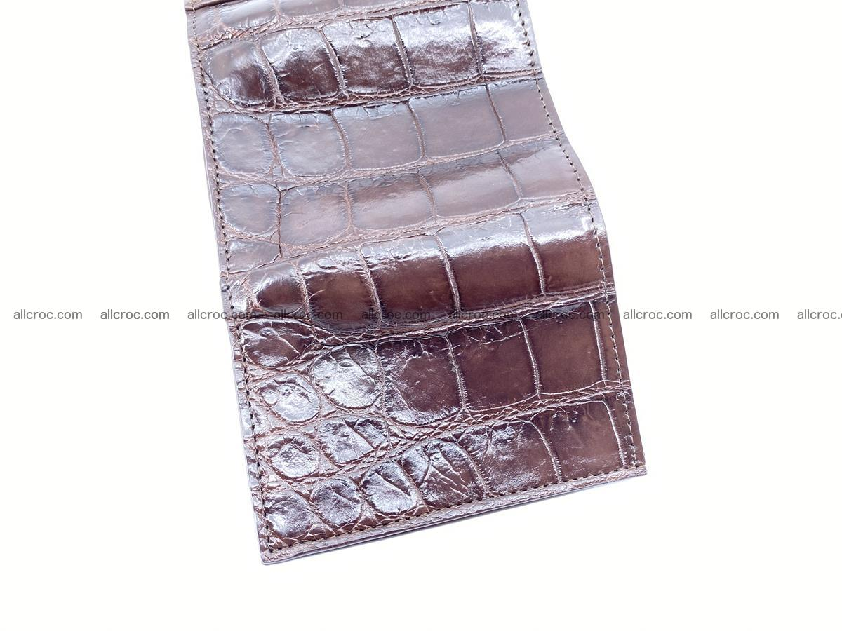 Crocodile skin wallet trifold mini with coins compartment 503 Foto 8