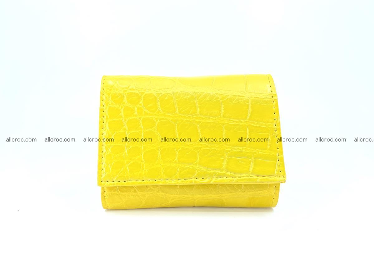 Crocodile skin wallet trifold mini with coins compartment 504 Foto 0