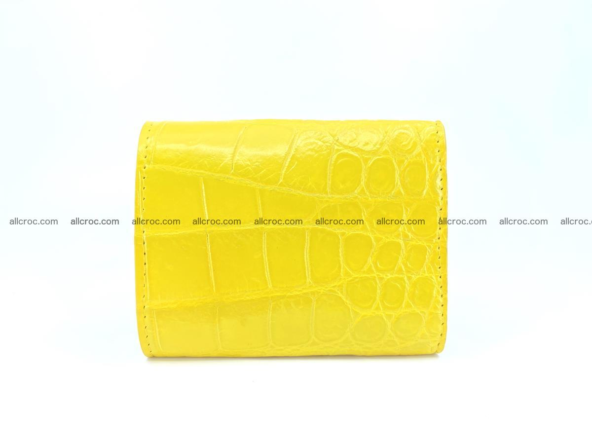 Crocodile skin wallet trifold mini with coins compartment 504 Foto 1