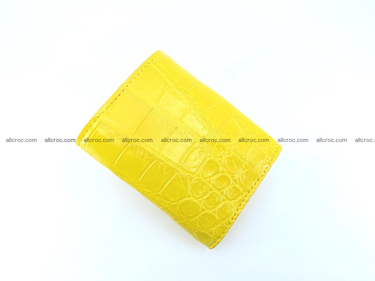 Crocodile skin wallet trifold mini with coins compartment 504 Foto 3