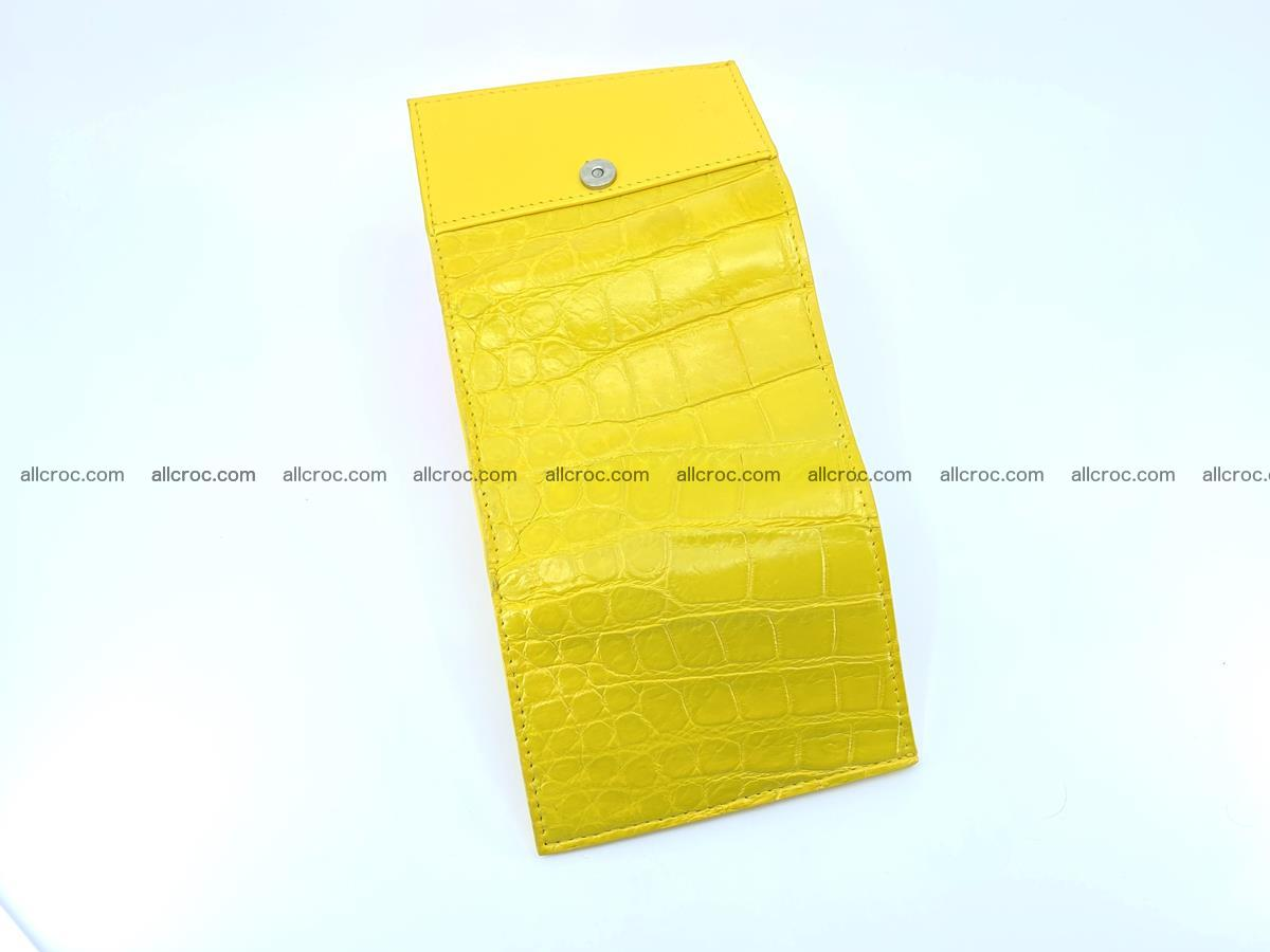Crocodile skin wallet trifold mini with coins compartment 504 Foto 7