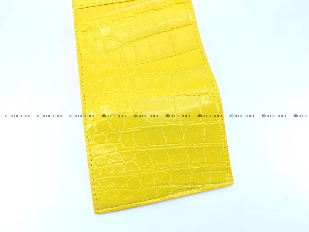 Crocodile skin wallet trifold mini with coins compartment 504 Foto 8