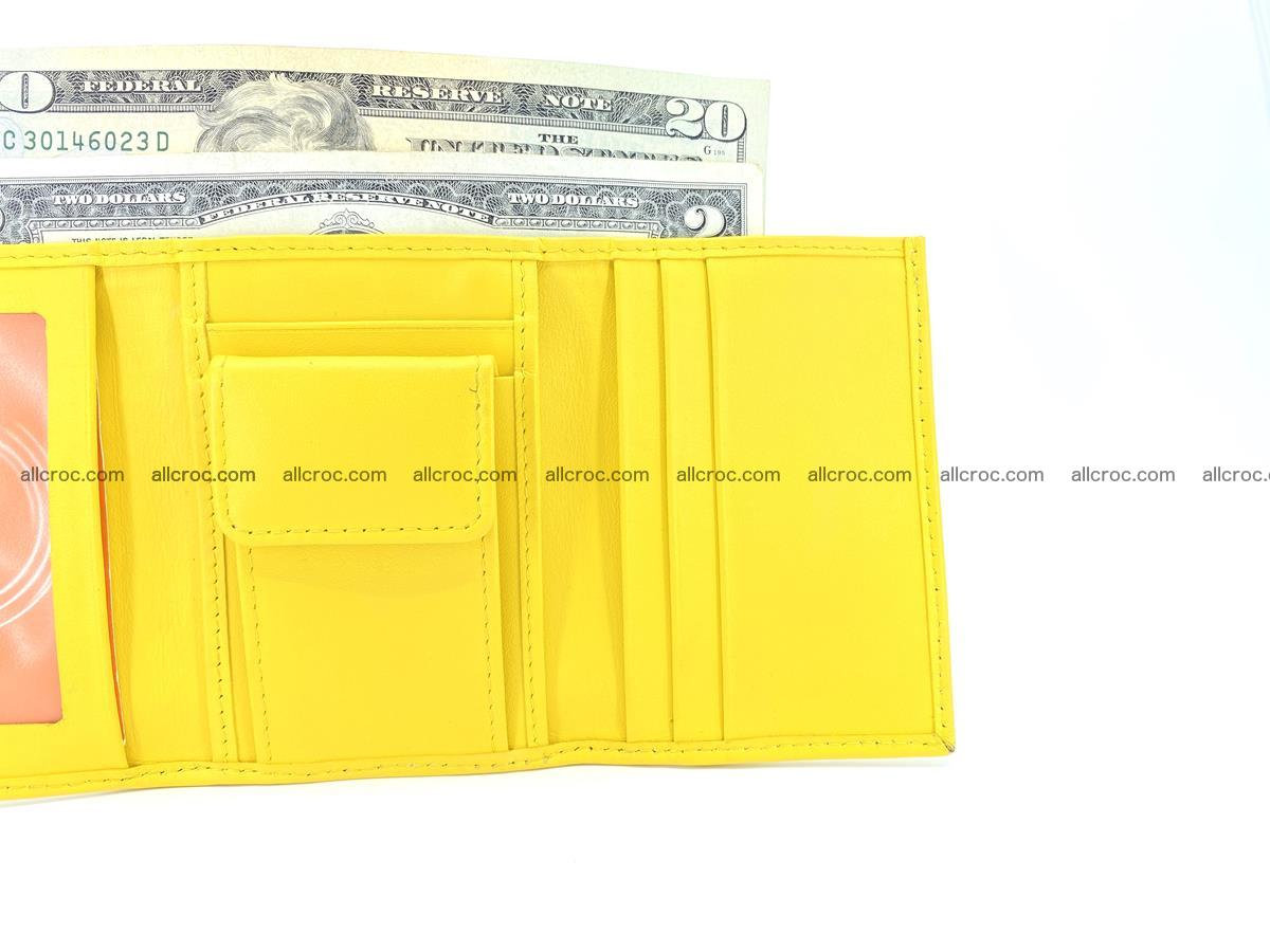 Crocodile skin wallet trifold mini with coins compartment 504 Foto 10