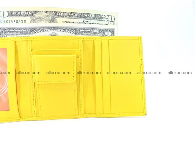 Crocodile skin wallet trifold mini with coins compartment 504