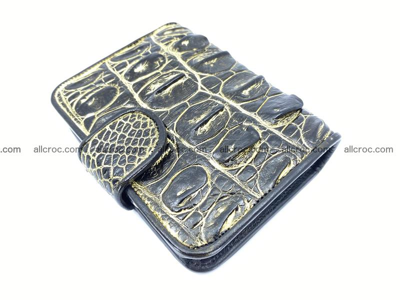 Crocodile skin wallet  with gold effect 1296