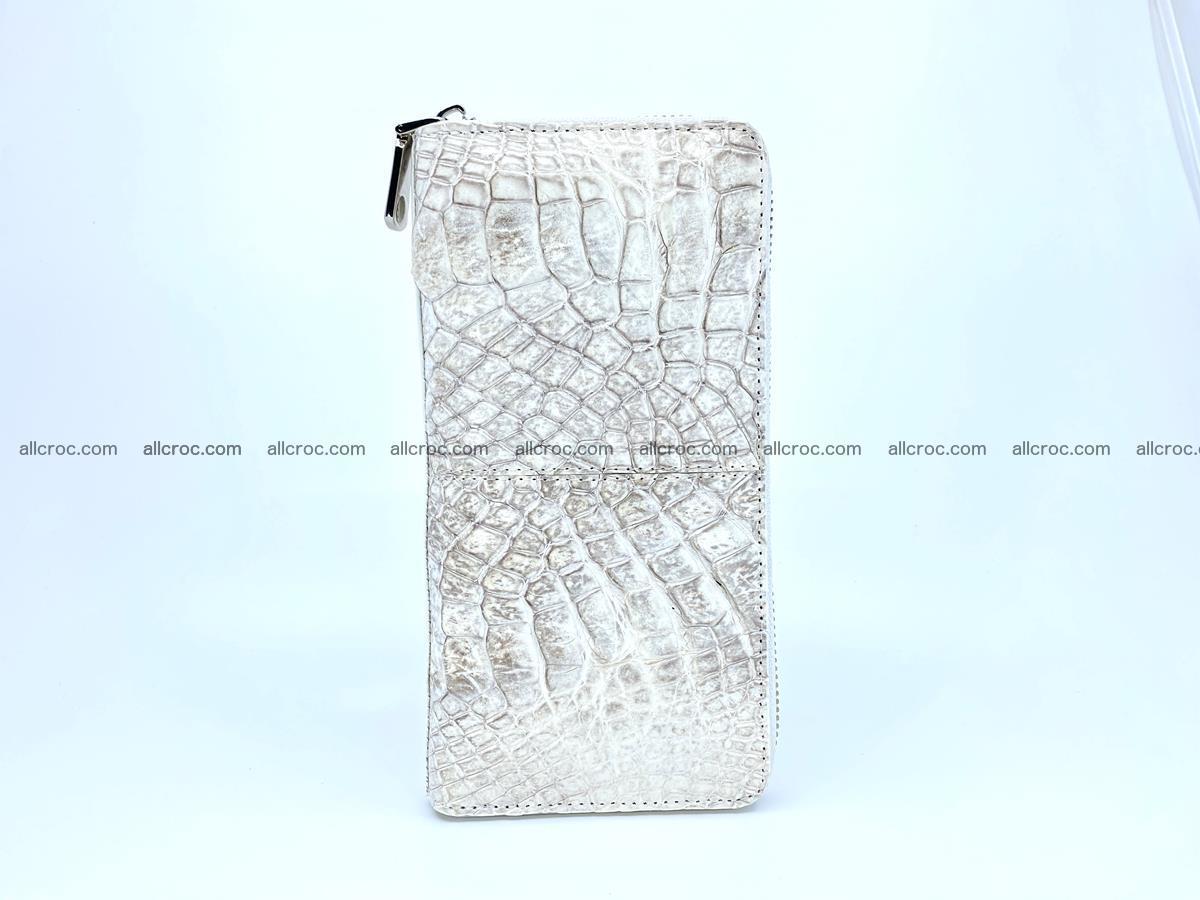 Crocodile skin wallet with zip 968 Foto 5