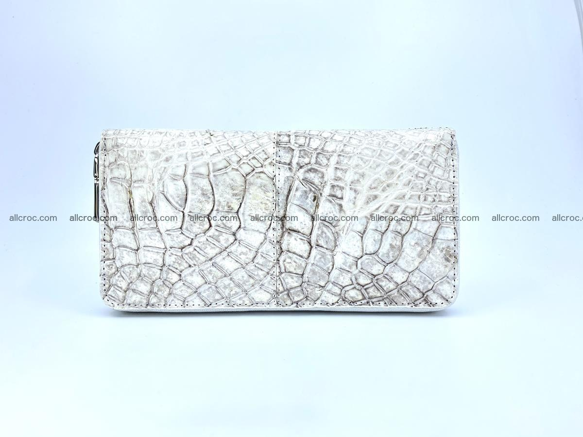 Crocodile skin wallet with zip 968 Foto 0