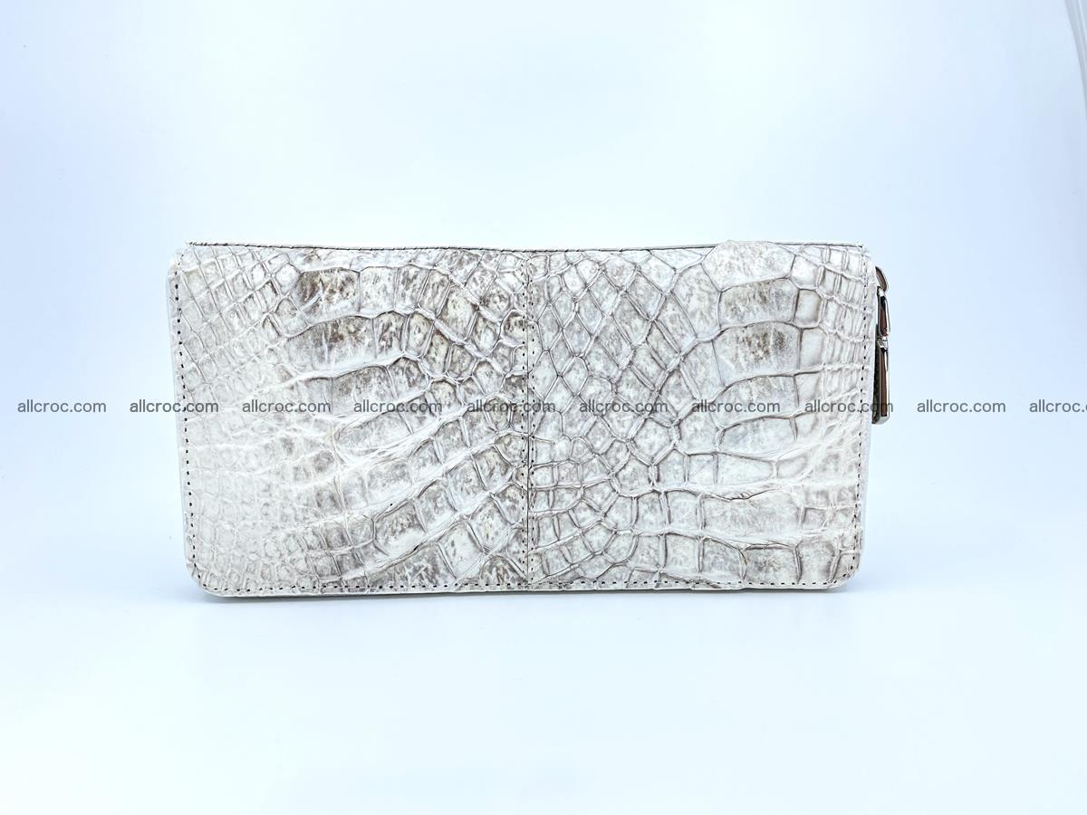 Crocodile skin wallet with zip 968 Foto 1