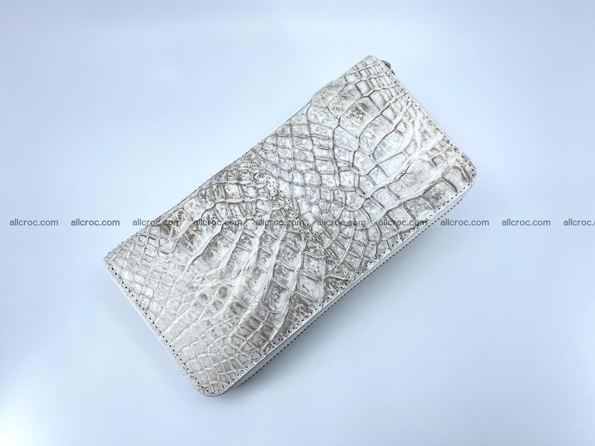 Crocodile skin wallet with zip 968 Foto 6