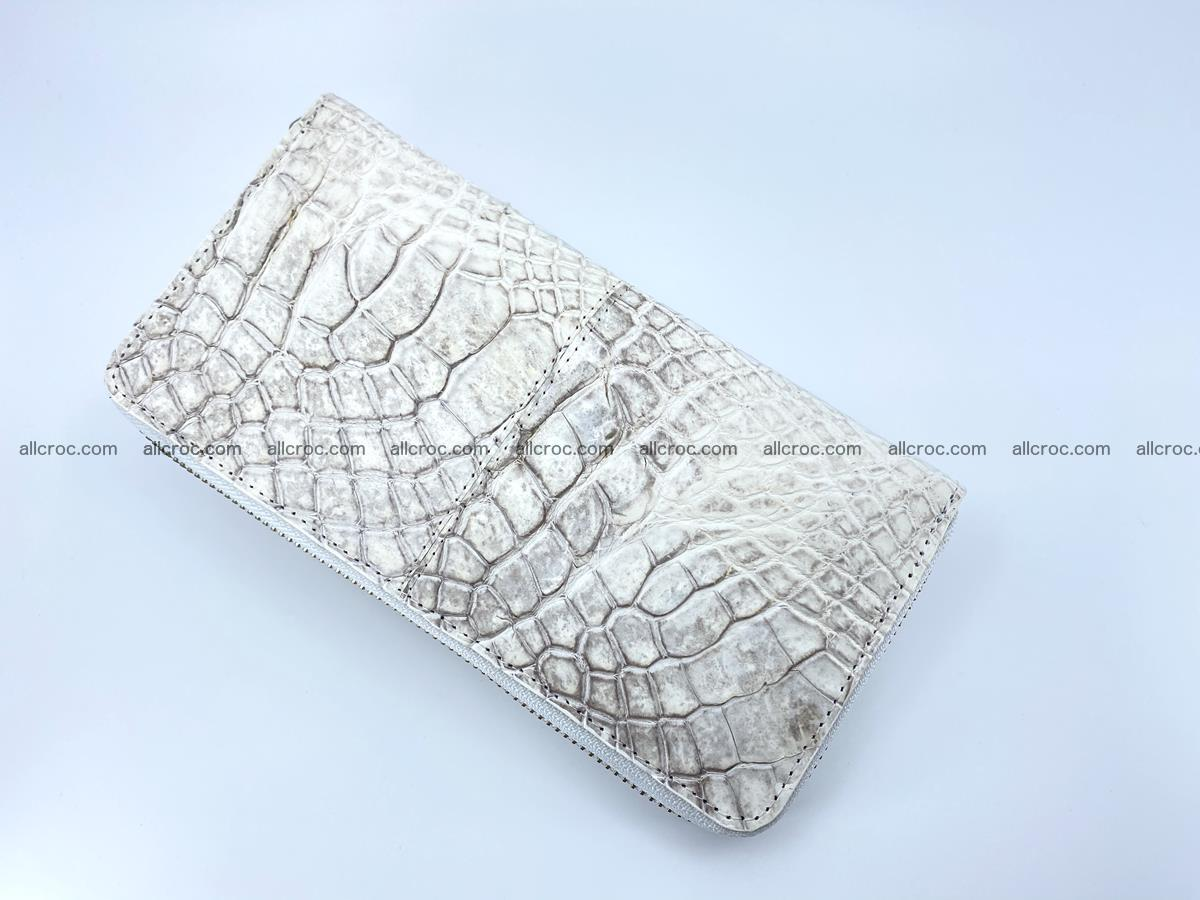 Crocodile skin wallet with zip 968 Foto 7