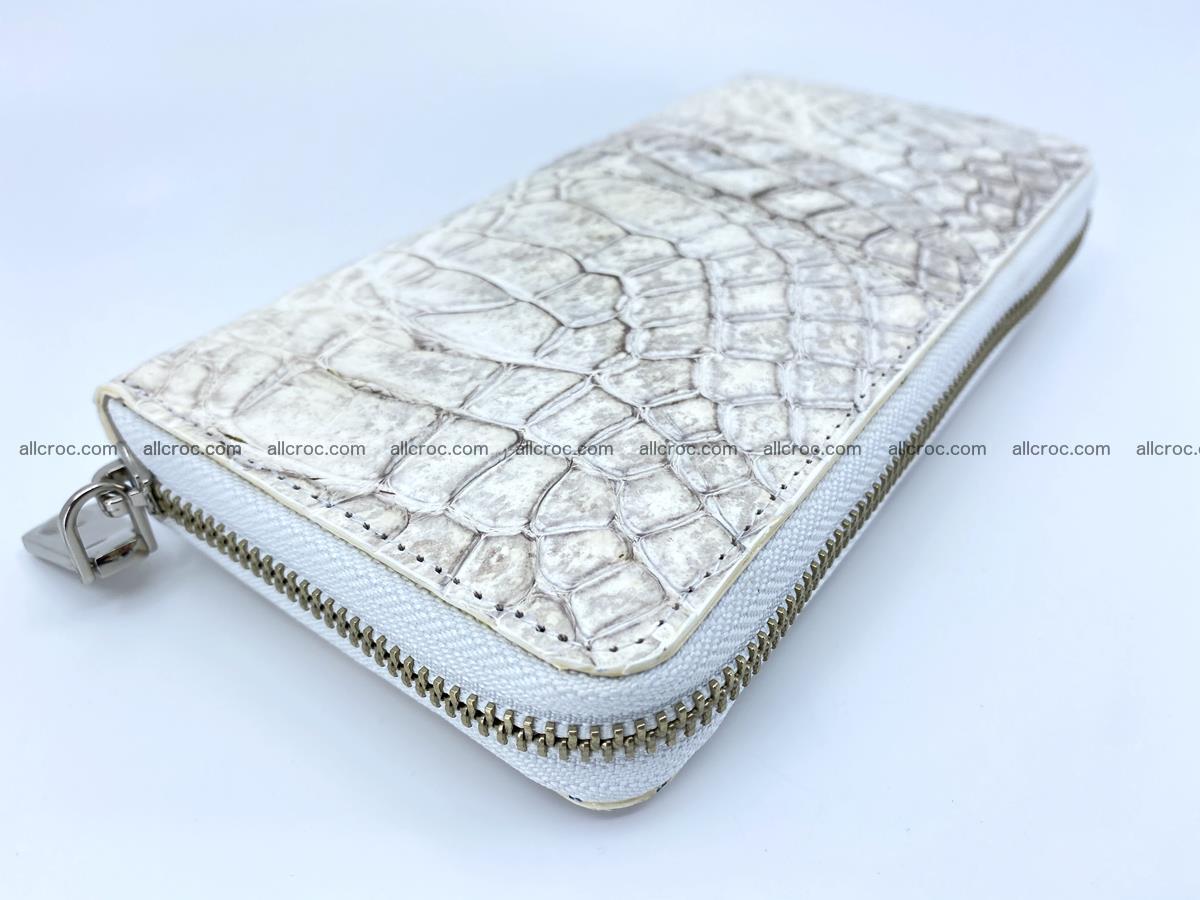 Crocodile skin wallet with zip 968 Foto 8