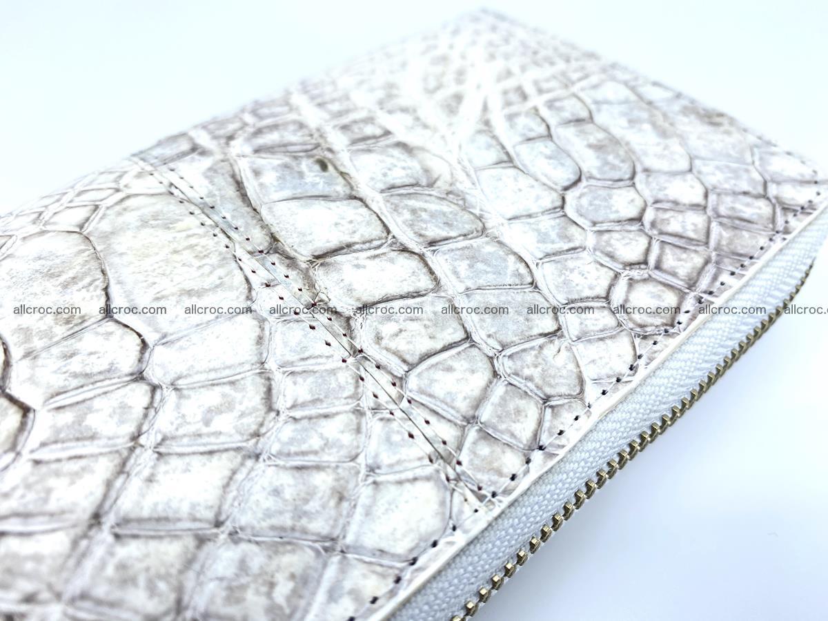 Crocodile skin wallet with zip 968 Foto 9