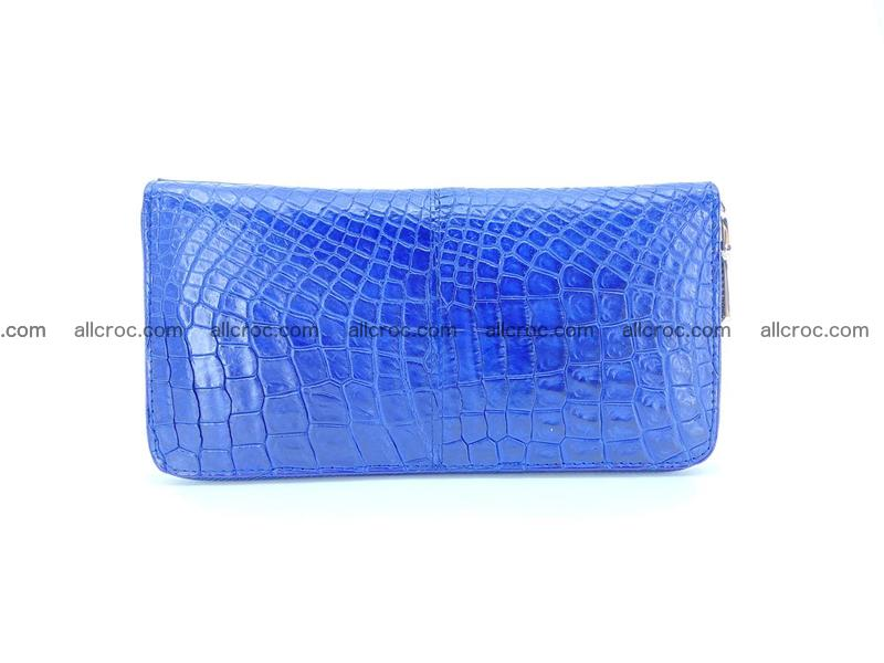 Crocodile skin wallet with zip 970