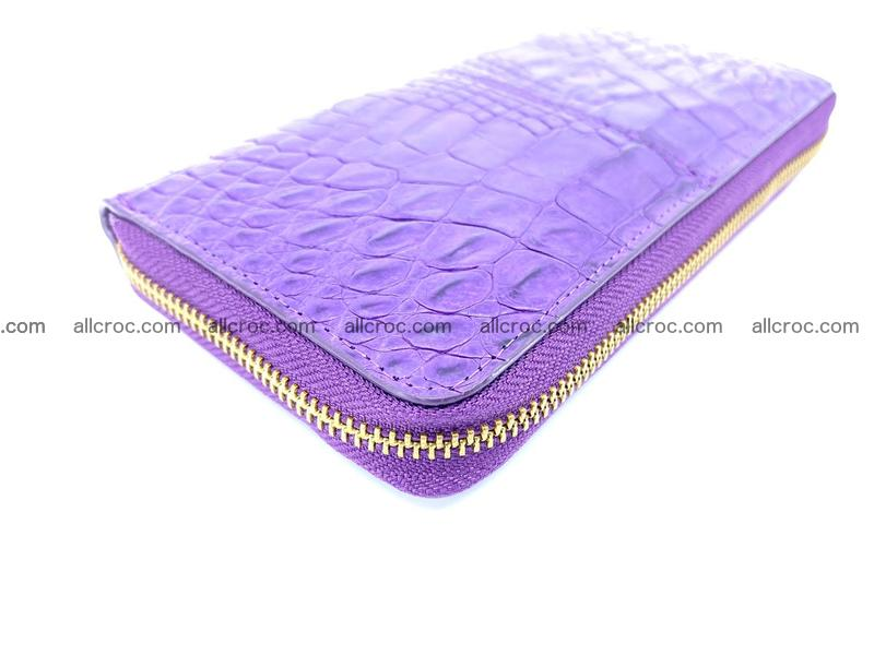 Crocodile skin wallet with zip 973