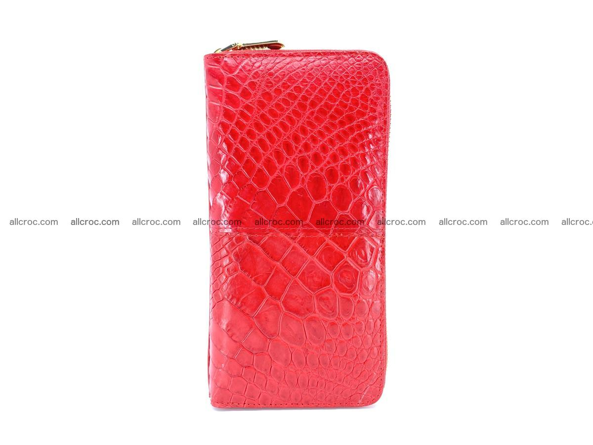 Crocodile skin wallet with zip 978 Foto 5