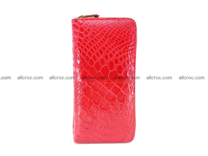 Crocodile skin wallet with zip 978