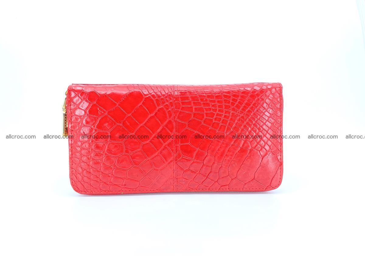 Crocodile skin wallet with zip 978 Foto 0