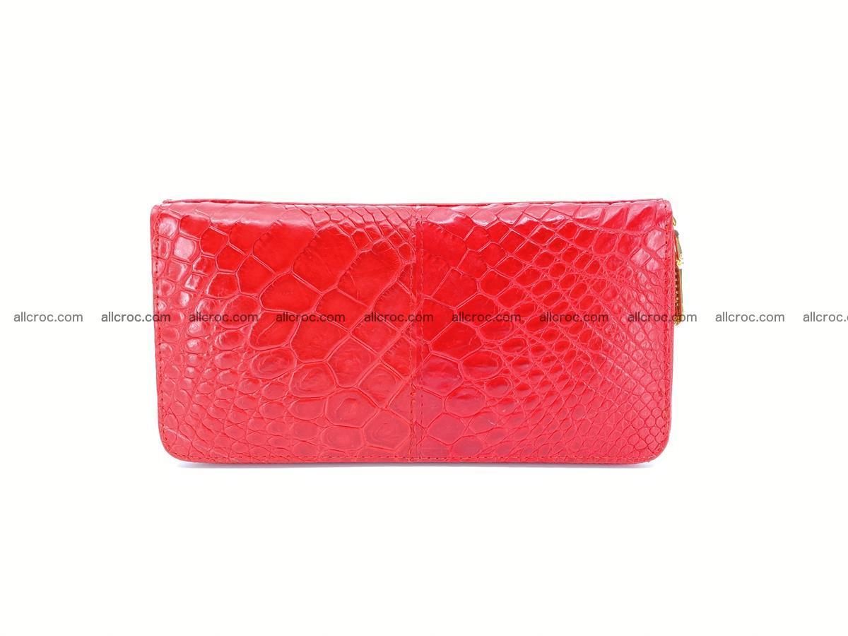 Crocodile skin wallet with zip 978 Foto 1