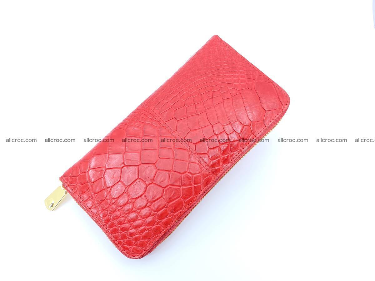 Crocodile skin wallet with zip 978 Foto 6