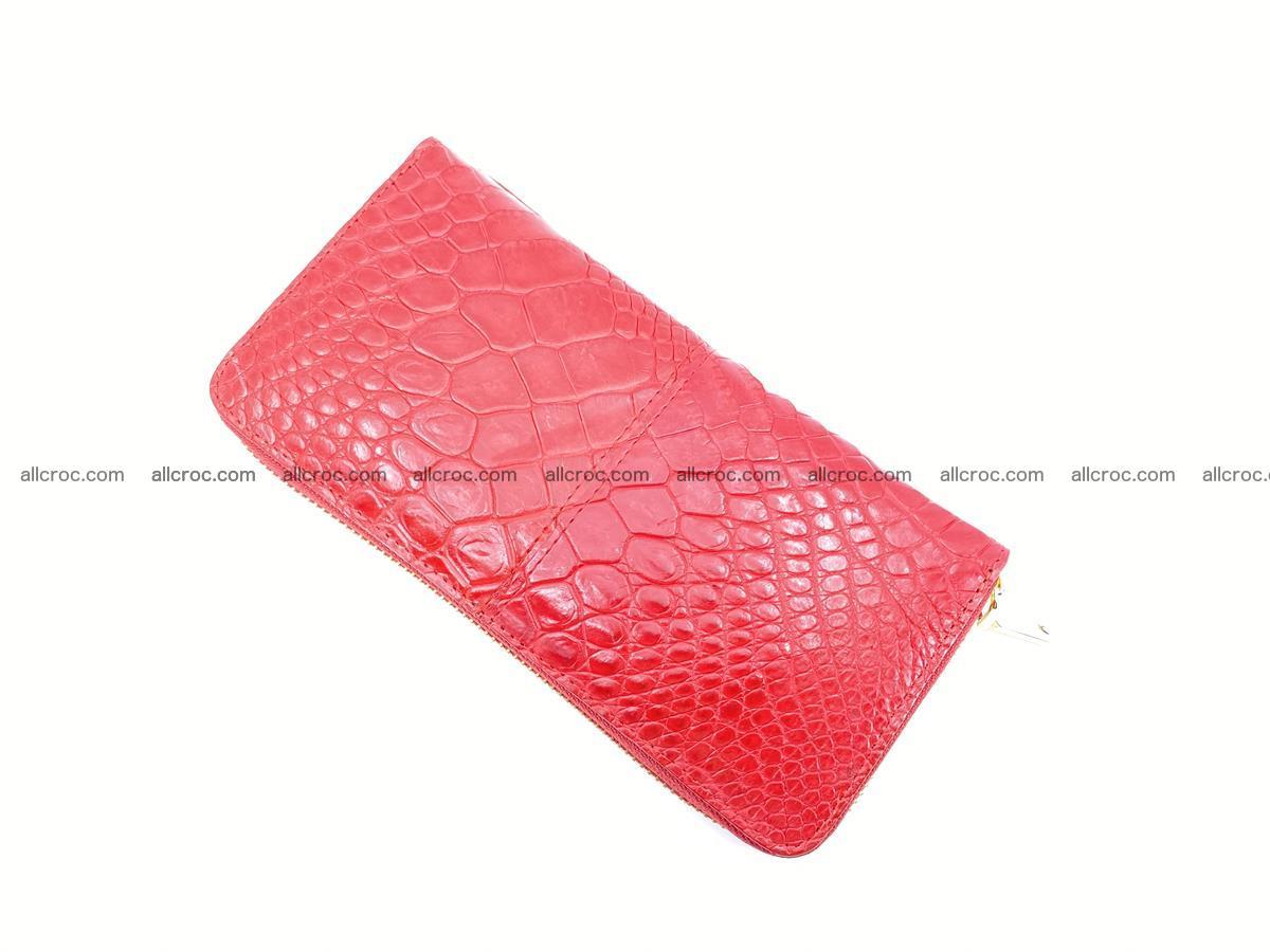 Crocodile skin wallet with zip 978 Foto 7
