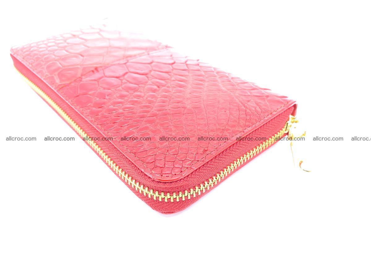 Crocodile skin wallet with zip 978 Foto 9