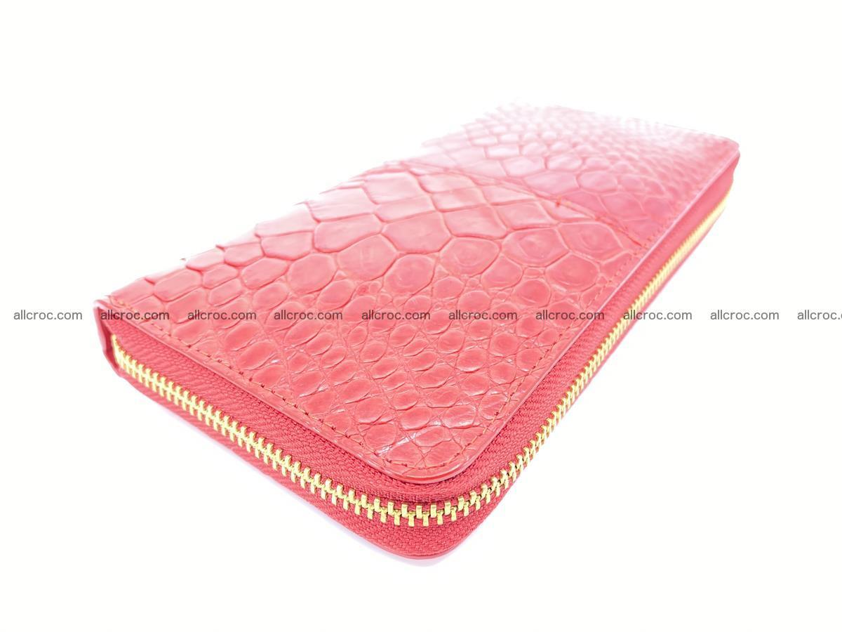 Crocodile skin wallet with zip 978 Foto 8