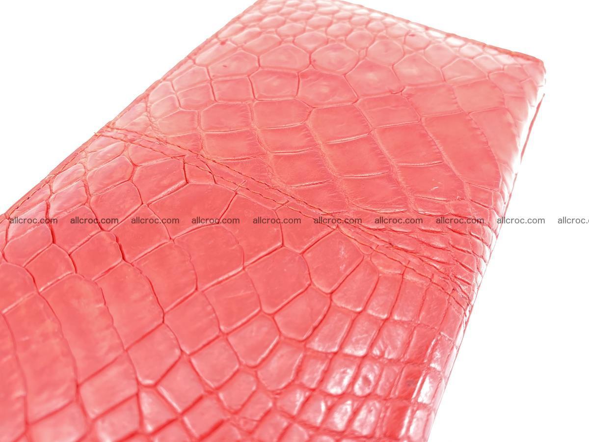 Crocodile skin wallet with zip 978 Foto 10