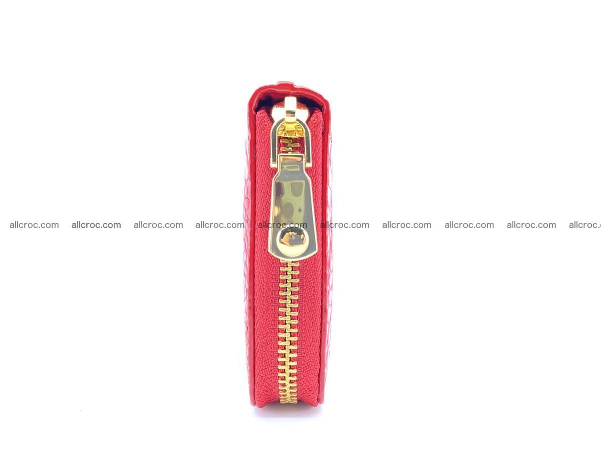 Crocodile skin wallet with zip 978 Foto 11