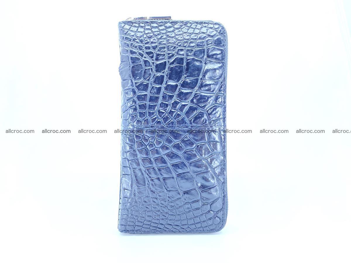 Crocodile skin wallet with zip 980 Foto 4