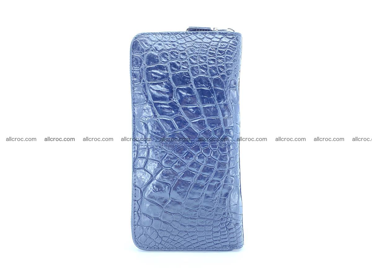 Crocodile skin wallet with zip 980 Foto 5