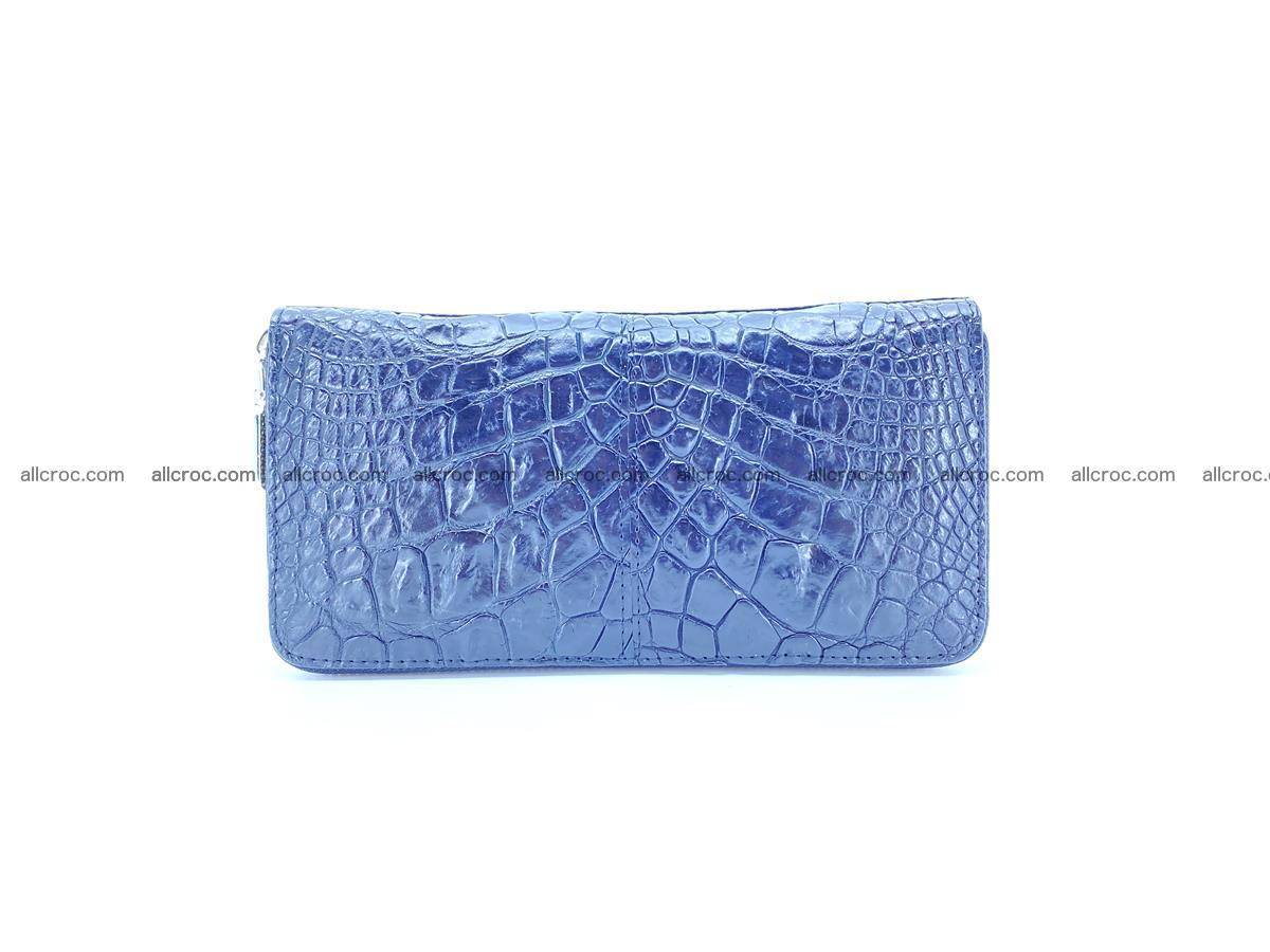 Crocodile skin wallet with zip 980 Foto 1