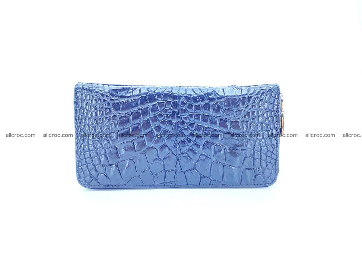 Crocodile skin wallet with zip 980 Foto 0