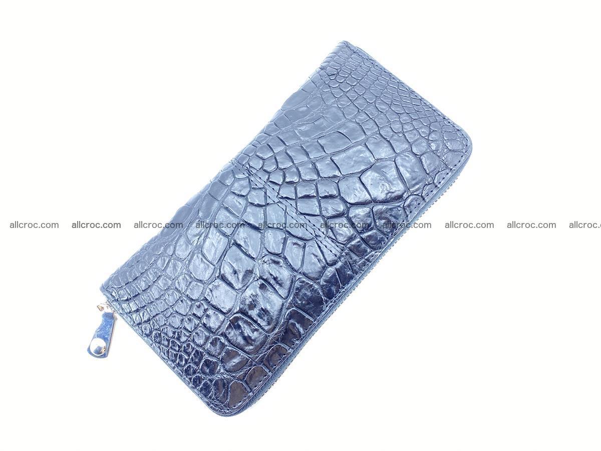 Crocodile skin wallet with zip 980 Foto 6