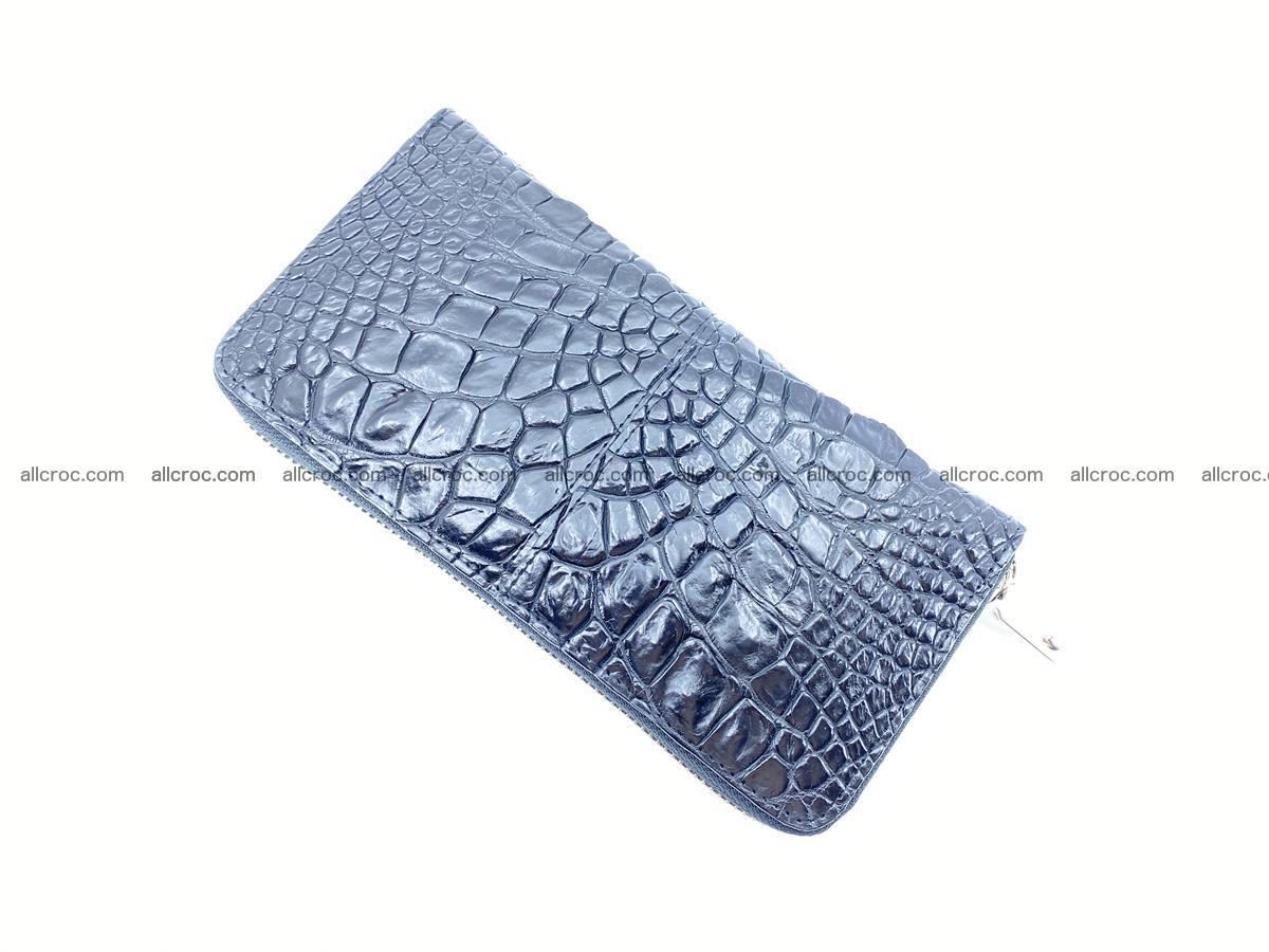 Crocodile skin wallet with zip 980 Foto 7