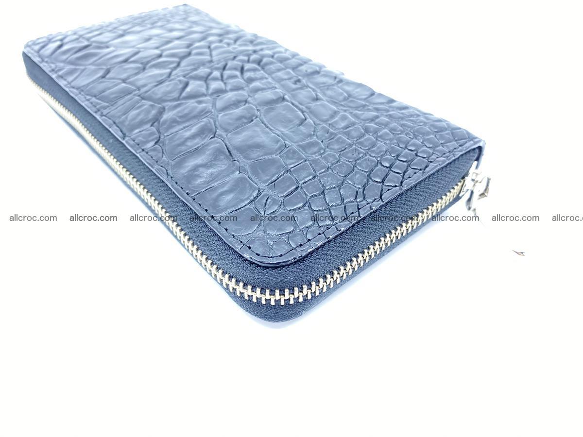 Crocodile skin wallet with zip 980 Foto 8