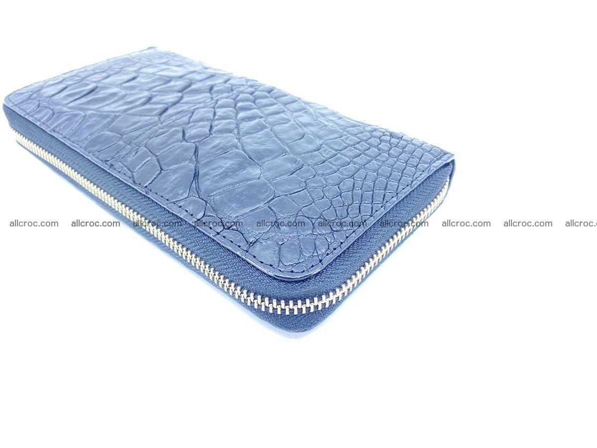 Crocodile skin wallet with zip 980 Foto 9